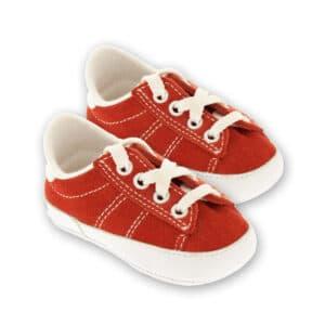 Tennis neonato in crosta rosso