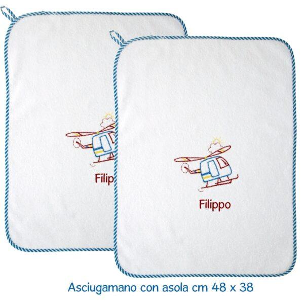 Asciugamani Personalizzati Asilo Elicottero
