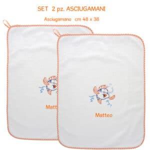 Asciugamani Personalizzati Asilo Pesciolino