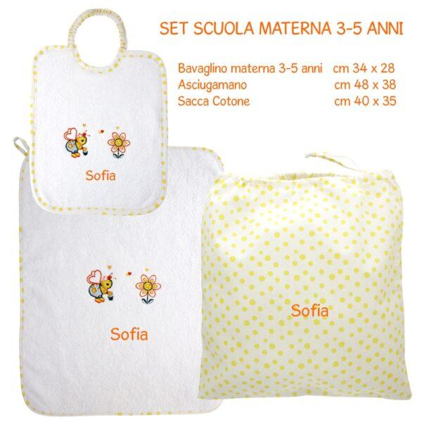 Set Asilo Personalizzato Materna Apina Gialla