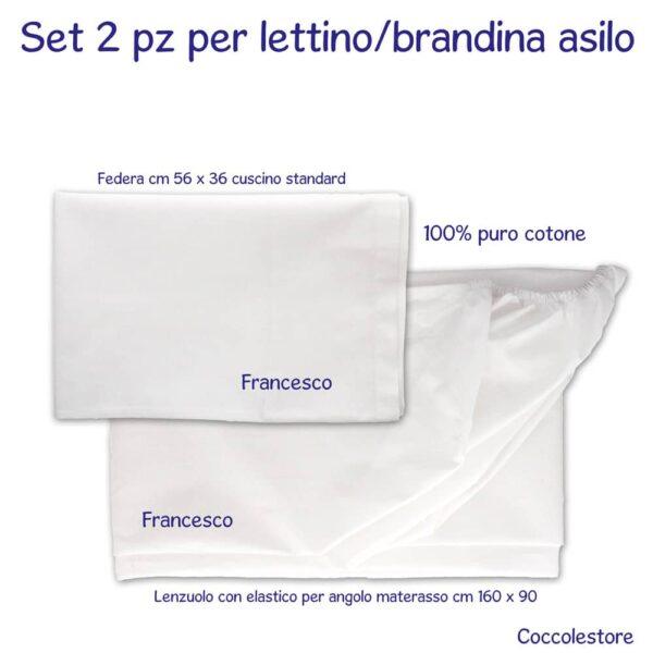 Lenzuolino Personalizzato con Federa per Lettino