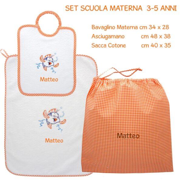 Set Asilo Personalizzato Materna Pesciolino