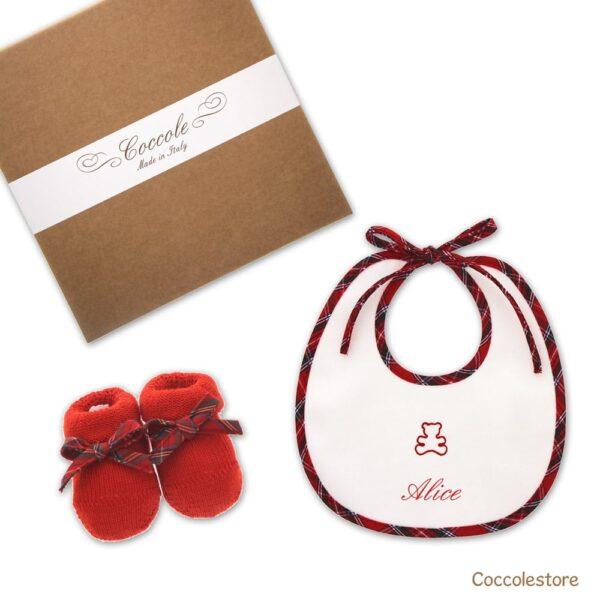 Regalo nascita personalizzato rosso