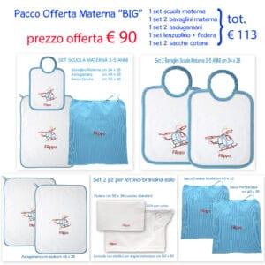 Set Asilo Personalizzato Materna Offerta Big Elicottero Turchese