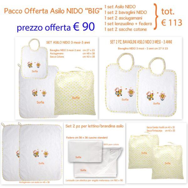 Set Asilo Personalizzato Nido Offerta Big Apina Gialla