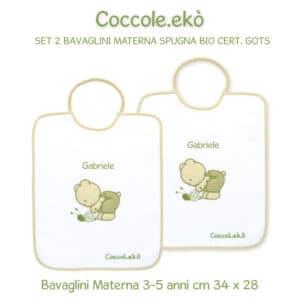 Bavaglini Personalizzati Materna in Cotone Bio set 2 pezzi