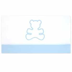 Lenzuolino Neonato Culla Orsetto Azzurro