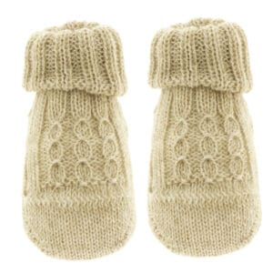 Scarpina in maglia con trecce corda