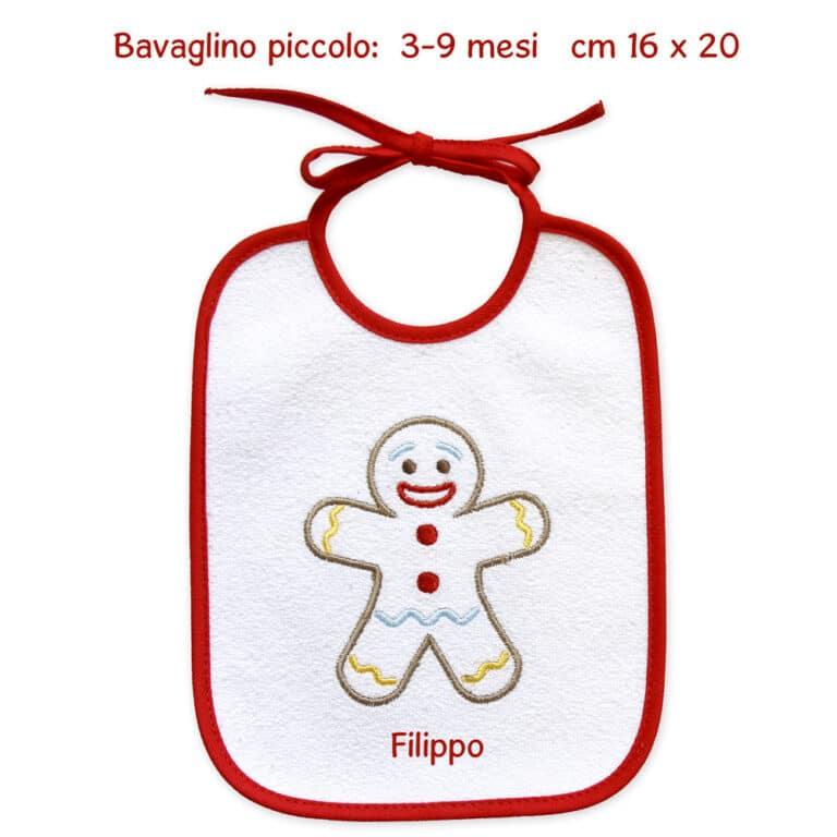 """Bavaglino Natale """"Pan di Zenzero"""" personalizzato"""