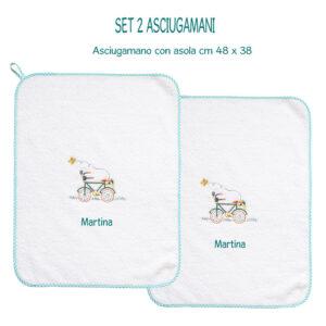 Asciugamani Personalizzati Asilo Bicicletta