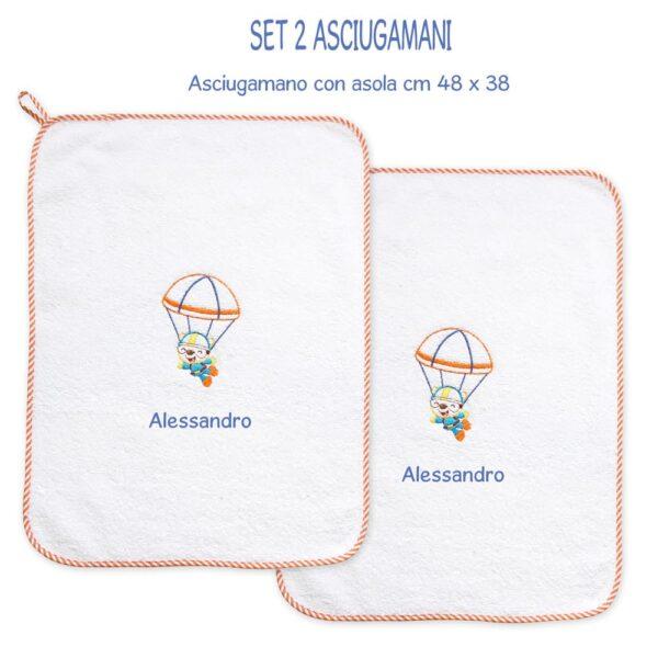 Asciugamani Personalizzati Asilo Paracadutista