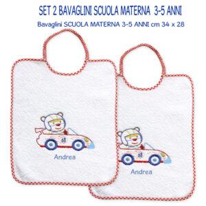 Bavaglini Personalizzati Materna Formula 1