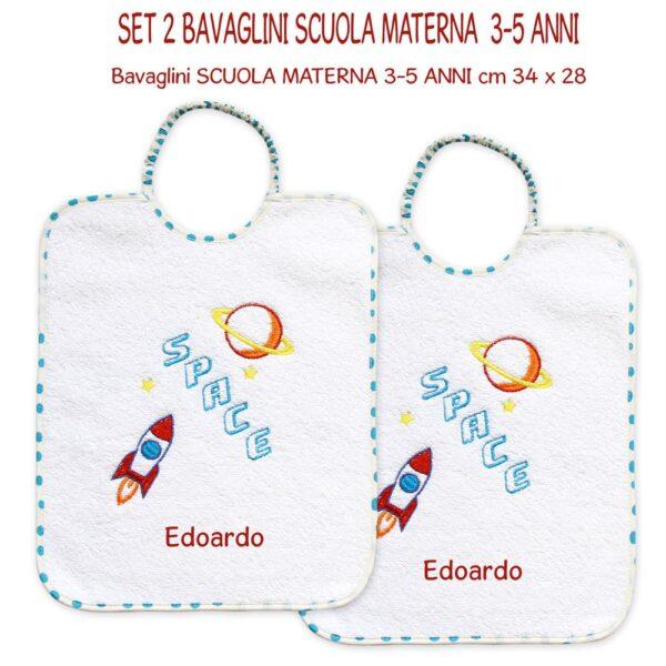 Bavaglini Personalizzati Materna Space