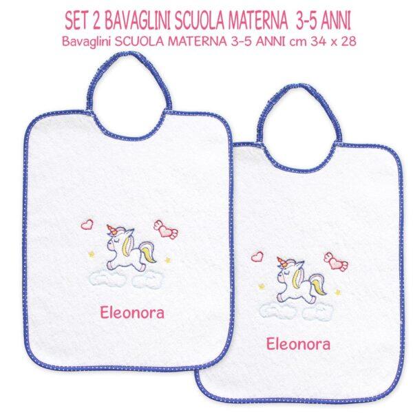 Bavaglini Personalizzati Materna Unicorno