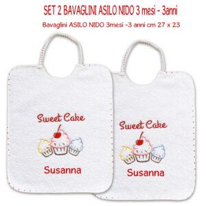 Bavaglini Personalizzati Asilo Nido Sweet Cake