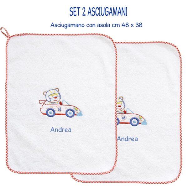 Asciugamani Personalizzati Asilo Formula 1