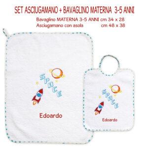 Bavaglino e Asciugamano Personalizzati Materna Space