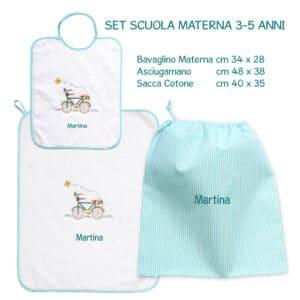 Set Asilo Personalizzato Materna Bicicletta
