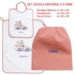 Set Asilo Personalizzato Materna Formula 1