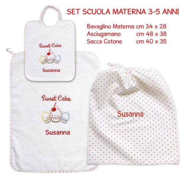 Set Asilo Personalizzato Materna Sweet Cake