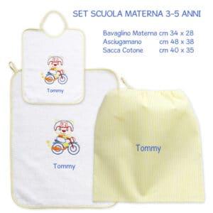 Set Asilo Personalizzato Materna Moto