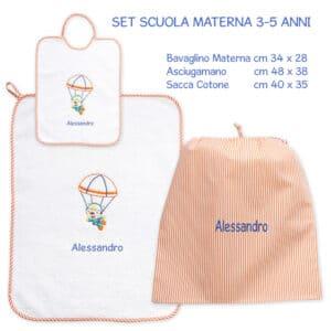 Set Asilo Personalizzato Materna Paracadutista