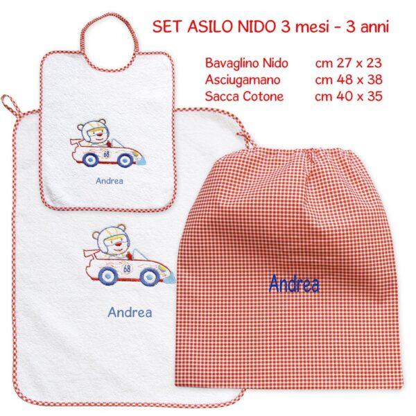 Set Asilo Personalizzato Nido Formula 1