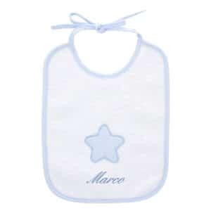 Bavaglino neonato personalizzato Stellina azzurra