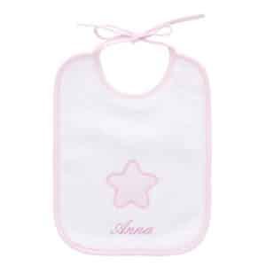 Bavaglino neonato personalizzato Stellina rosa