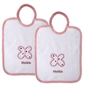 Bavaglini Personalizzati Materna Farfalla