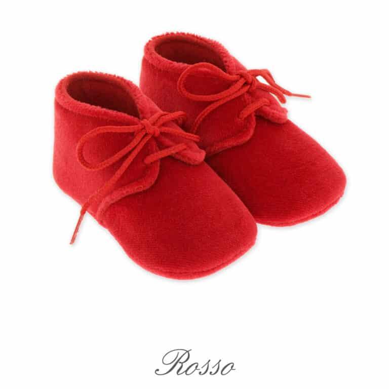 scarpina neonato in velluto