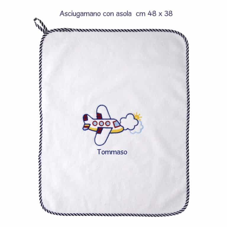 ASCIUGAMANO-RIGHE-BLU