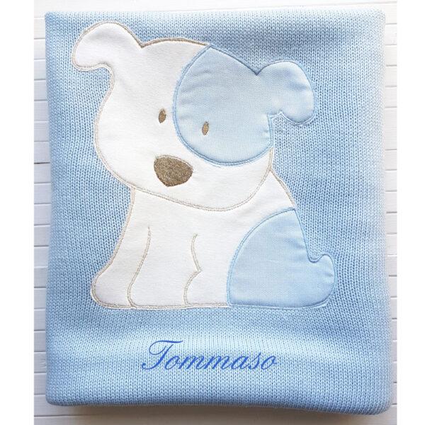 Copertina Personalizzata in maglia Billy Azzurro