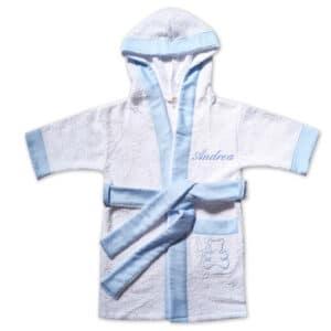 Accappatoio Personalizzato Bimbo Azzurro