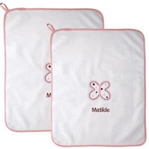 Asciugamani Personalizzati Asilo Farfalla