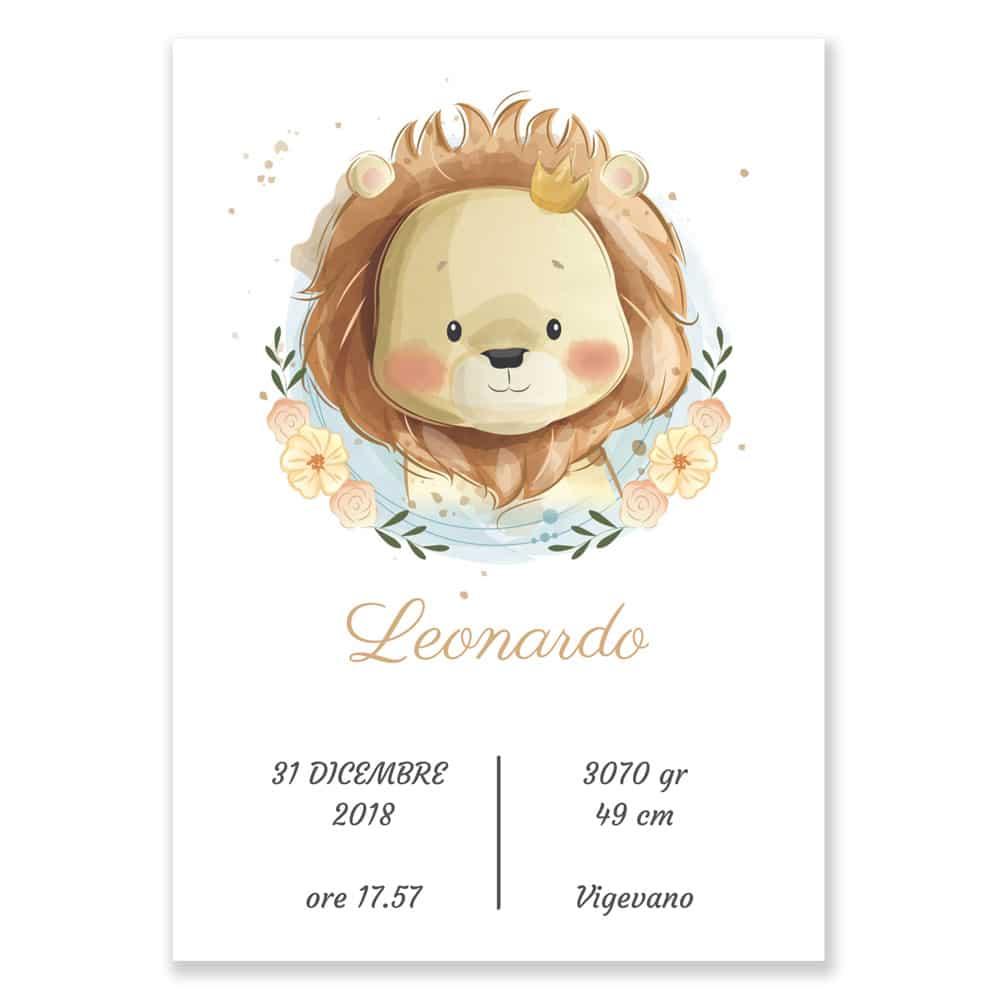Quadretto Nascita Personalizzato Leoncino