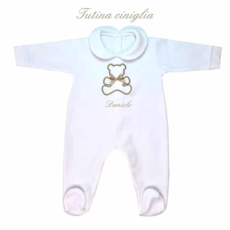 Tutina Neonato Personalizzata CINIGLIA Orsetto in cinque colori