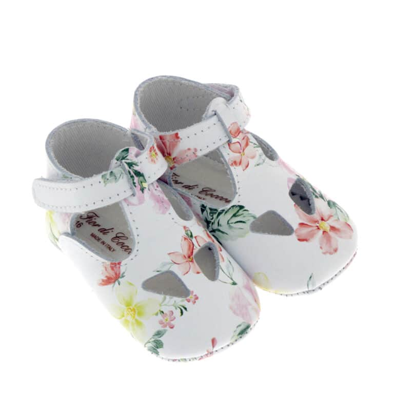 Sandalino Garden neonato nappa fiori