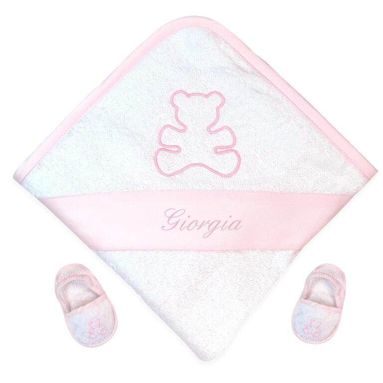 accappatoio-con-ciabattine-orso-rosa