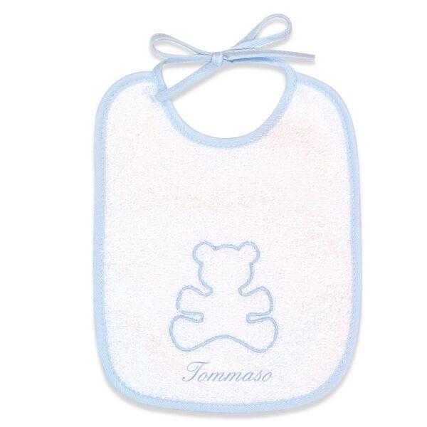 Bavaglino neonato personalizzato Orsetto in spugna