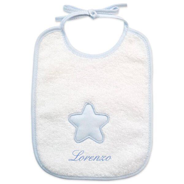 Bavaglino neonato personalizzato Stellina in spugna
