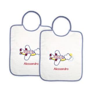Bavaglini Personalizzati Materna Aeroplano