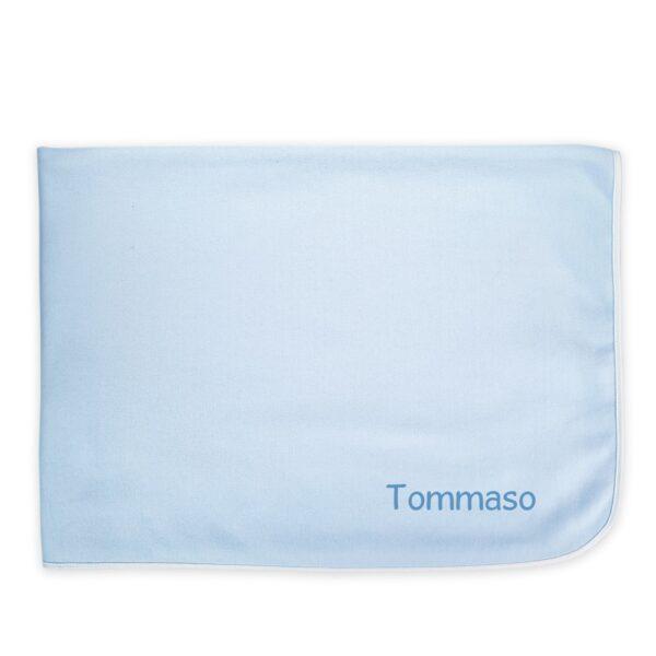 Coperta Lettino Personalizzata Felpa Azzurro
