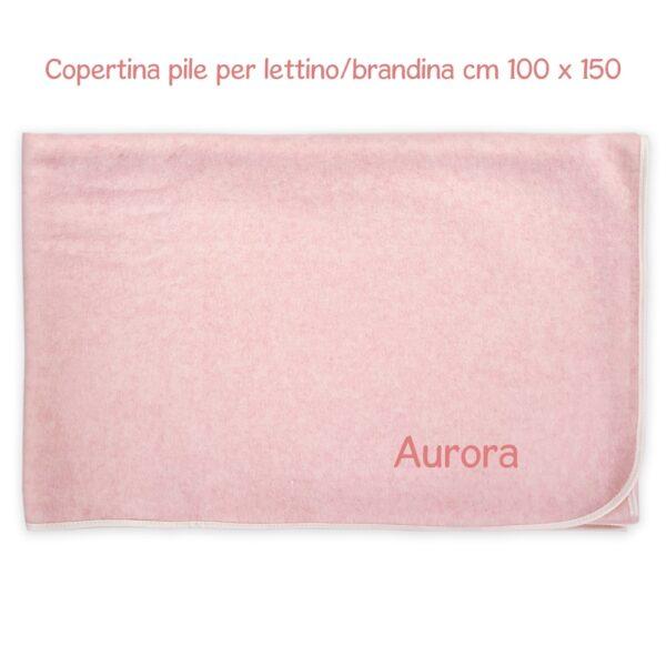 Coperta Lettino Personalizzata Felpa-Pile Rosa