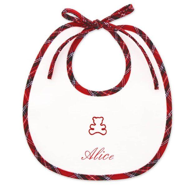 Bavaglino Natale personalizzato Orsetto
