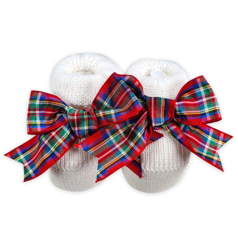 babbucce-lana-bianca-fiocco-scozzese